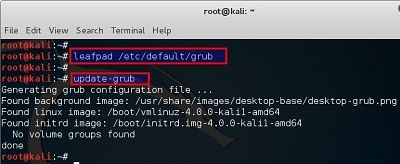 Changing GRUB timeout in Kali Linux - blackMORE Ops -3