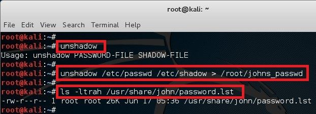 Cracking password using John the Ripper in Kali Linux - blackMORE Ops 2