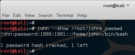 Cracking password in Kali Linux using John the Ripper - blackMORE Ops