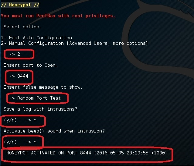 Set up a honeypot in Kali Linux - blackMORE Ops - 9
