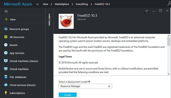 Microsoft created its own FreeBSD image - blackMORE Ops
