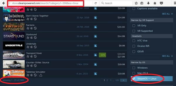 Steam boasts a total of 2985 Linux Games in 2016