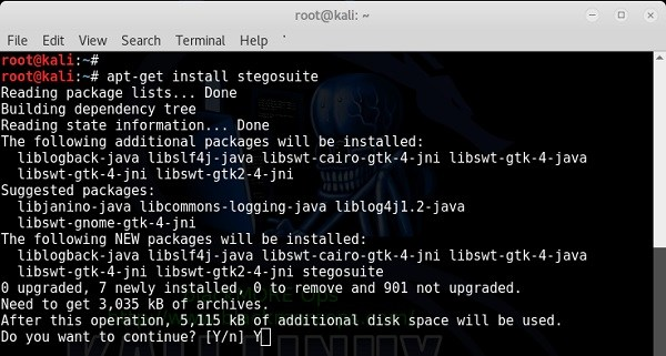 Hide Embed text file in Picture using Stegosuite in Kali Linux - Install StegoSuite - blackMORE Ops - 1