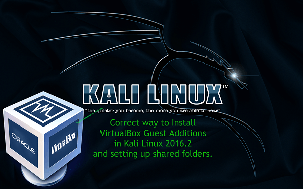 How to install VirtualBox Guest Additions in Kali Linux (Kali