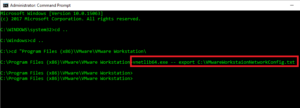 Export VMware Workstation Virtual Network Settings