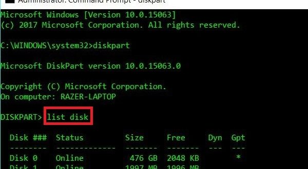 Format Linux USB Drive to recover full disk space in Windows 10