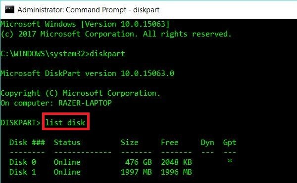 Formatting a Linux USB Drive to recover full disk space in Windows 10 - blackMORE Ops -3