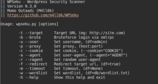 WPSeku - Wordpress Security Scanner - blackMORE Ops