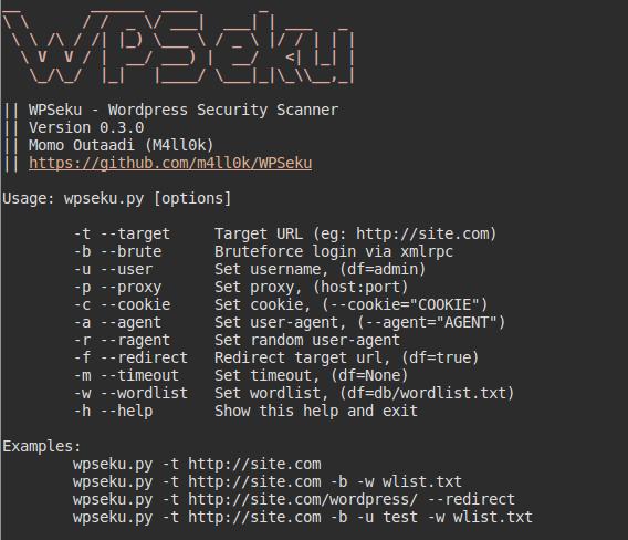 WPSeku - WordPress Security Scanner - blackMORE Ops