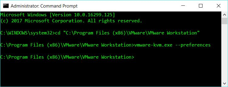 VMware KVM mode with VMware Workstation - blackMORE Ops - 1