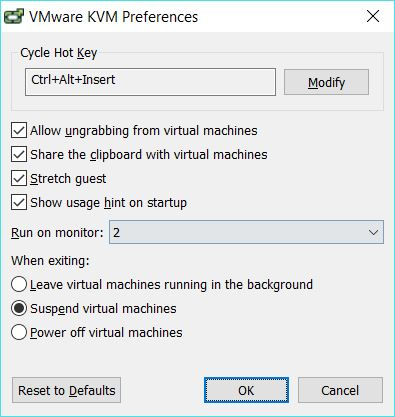 VMware KVM mode with VMware Workstation - blackMORE Ops - 2