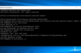 Kali on the Windows Subsystem for Linux - blackMORE Ops -1