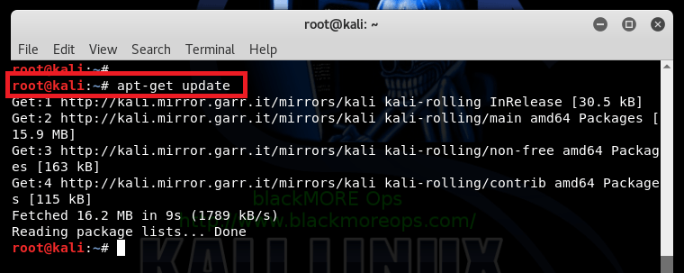 The following signatures were invalid EXPKEYSIG ED444FF07D8D0BF6 Kali Linux Repository - blackMORE Ops -1