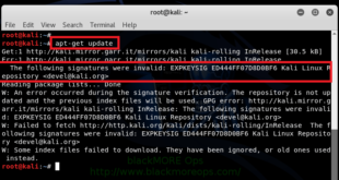 The following signatures were invalid EXPKEYSIG ED444FF07D8D0BF6 Kali Linux Repository - blackMORE Ops -3