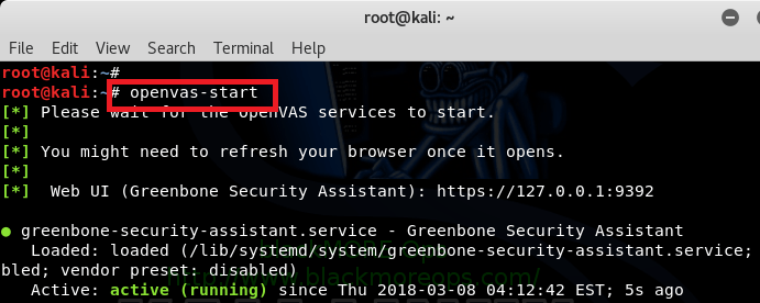 Install, setup, configure and run OpenVAS on Kali Linux