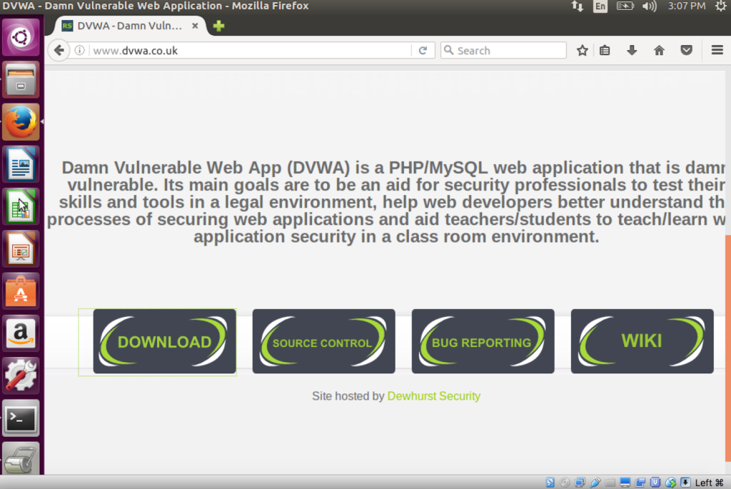 Setting up Damn Vulnerable Web Application (DVWA) - Pentesting Lab