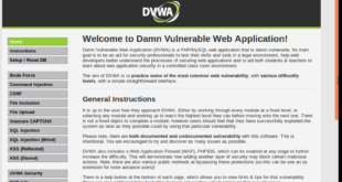 Setting up Damn Vulnerable Web Application (DVWA) – Pentesting Lab