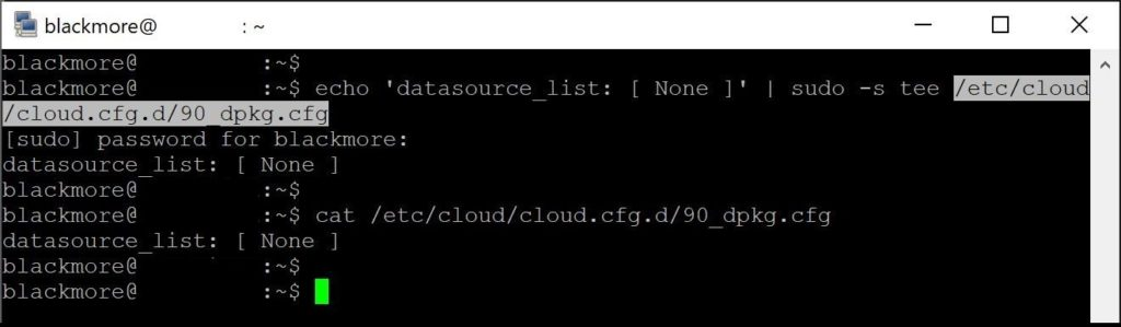 Remove cloud-init from Ubuntu - blackMORE Ops - 1