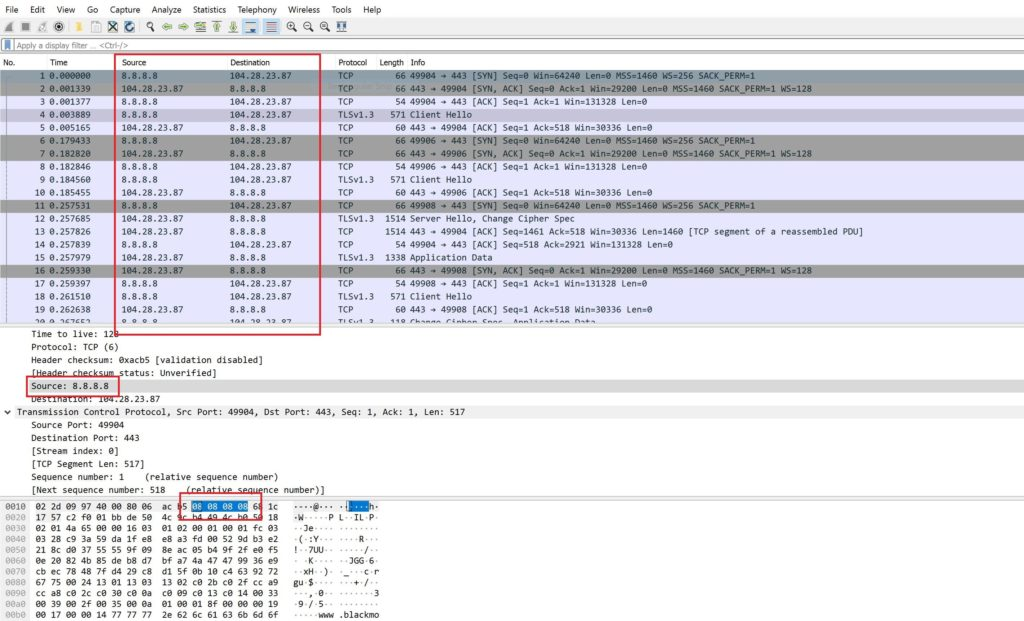 Changing IP address in Capture File