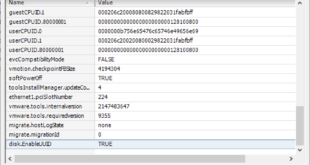 Adding disk.EnableUUID True to Configuration Parameters